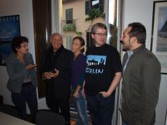 La Giuria fiction in sala consiglio: da sinistra Bruna Vero, Enzo G. Castellari, Chiara Cavallazzi, Andrea Fornasiero e Luca Antonini