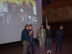 La premiazione dei vincitori di Ora di cinema: Istituto IPSIA Bellini di Novara.