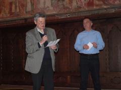 Sandro Signetto, Presidente di Giuria, legge le motivazioni con Gianni Lucini.