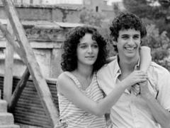 Valeria Golino e Blas Roca Rey, protagonisti del film Storia d'amore. Premio speciale della Giuria e premio Migliore attrice a Venezia 1986.